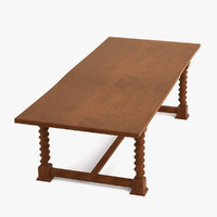 3d antique table model