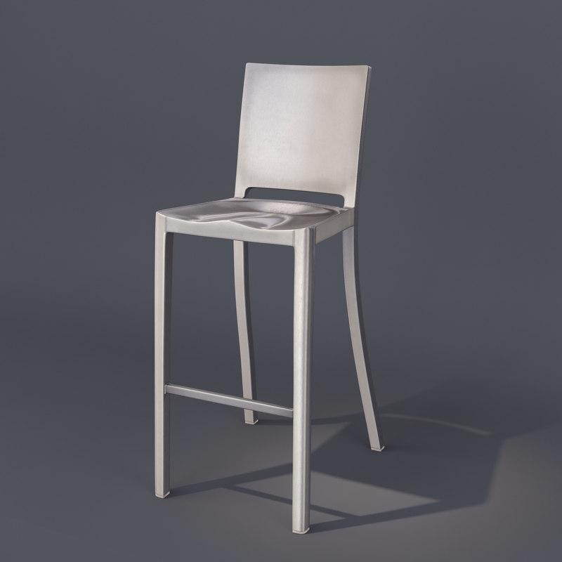 3d hudson emeco starck chair