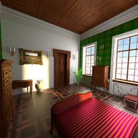 antique bedroom 3d model