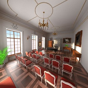 3ds max luxury music room
