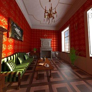 3ds luxury living room