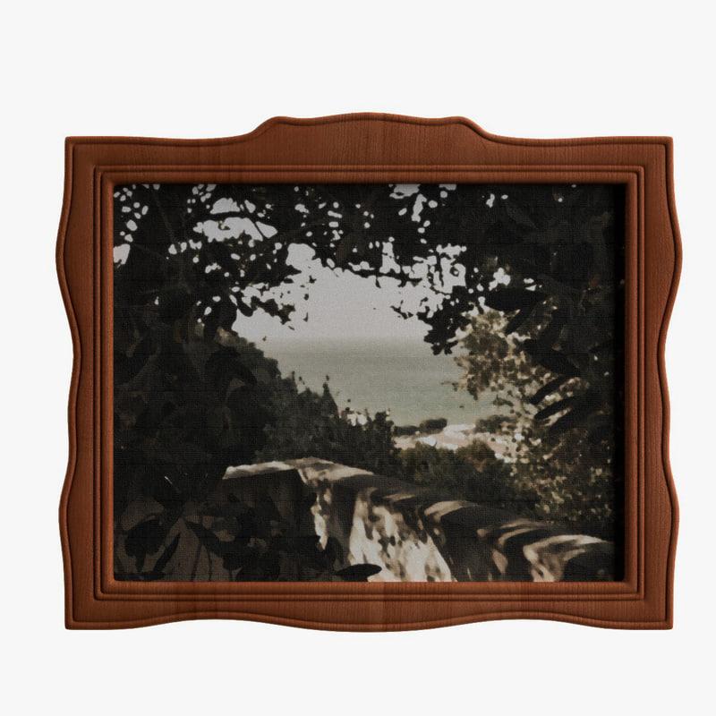 antique painting 3ds