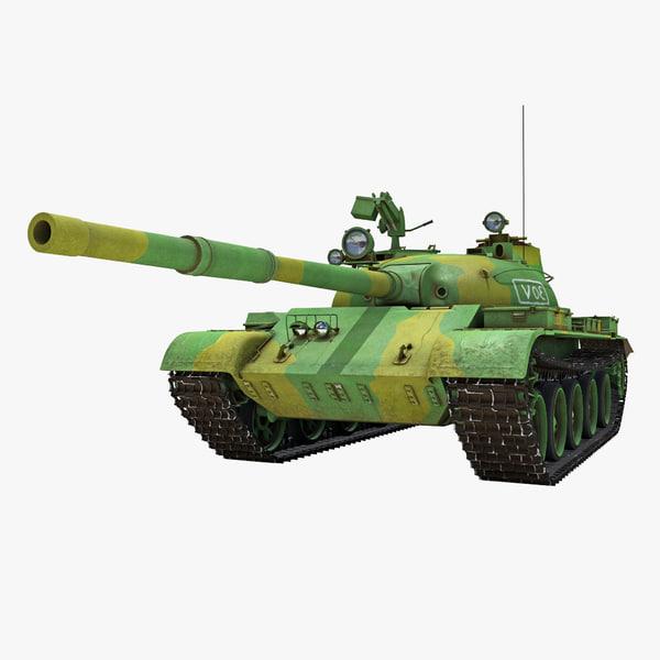 t-62 soviet main battle tank 3d c4d