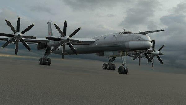 3d model tu-95ms bomber