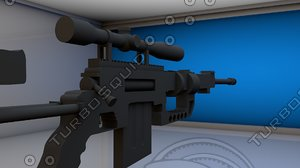 3d gun model