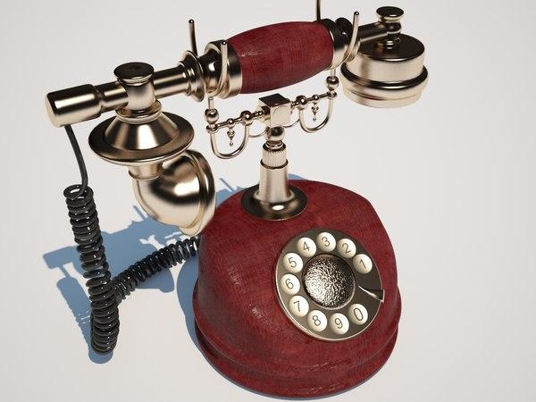 vintage phone fbx free