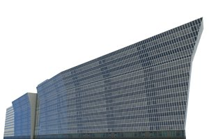 office building moscow 3d model