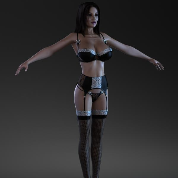female character 3d max