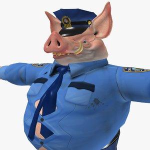 3d pig cop model