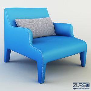 3dsmax frida armchair