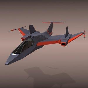 futuristic spacecraft 3ds