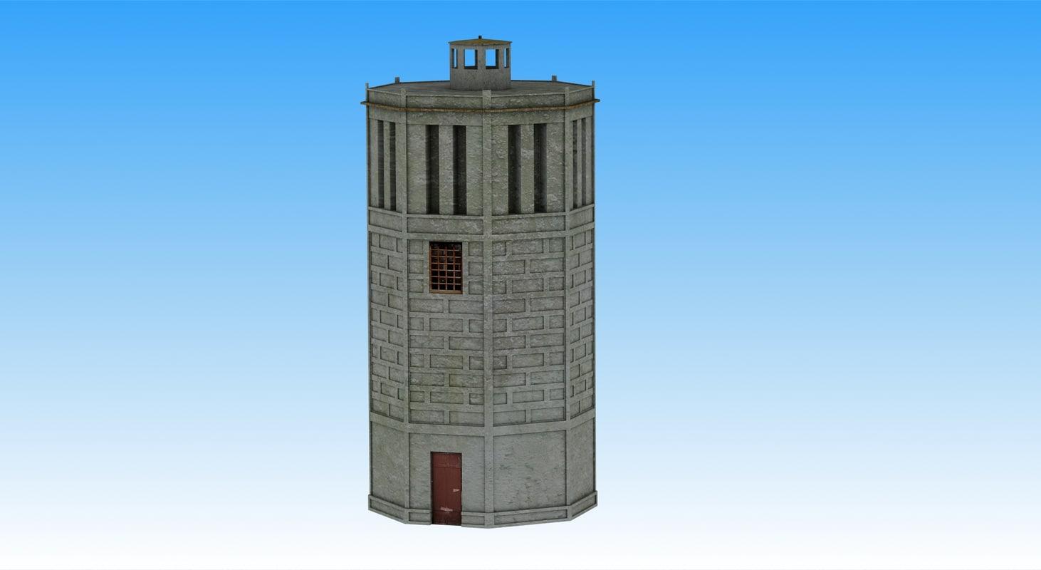 3d russian watertower