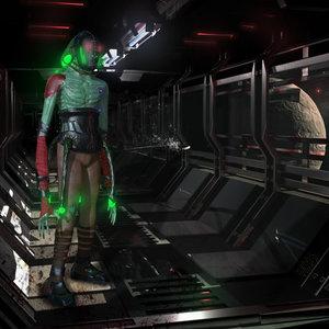 monster humanoid prototype 3d fbx