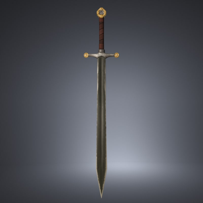 3d model sword old