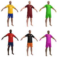3d beach soccer player model