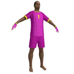 3d model beach soccer