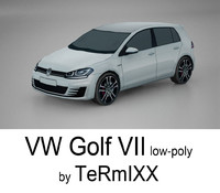 VW Golf VII Low-poly