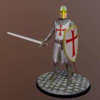 3d max medieval templar knight helmet