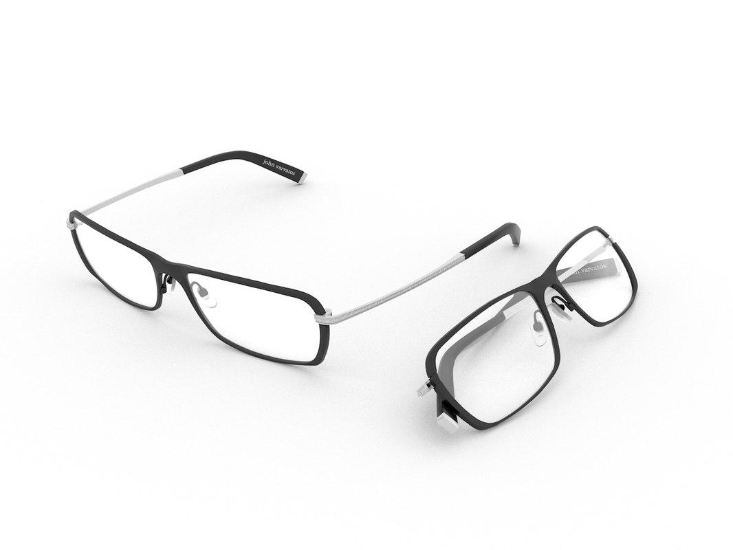 glasses eyeglasses rim 3d c4d