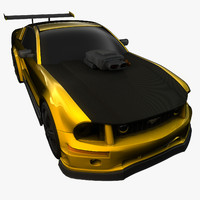 cinema4d mustang stallion