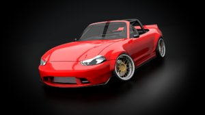 miata nb widebody 3d model