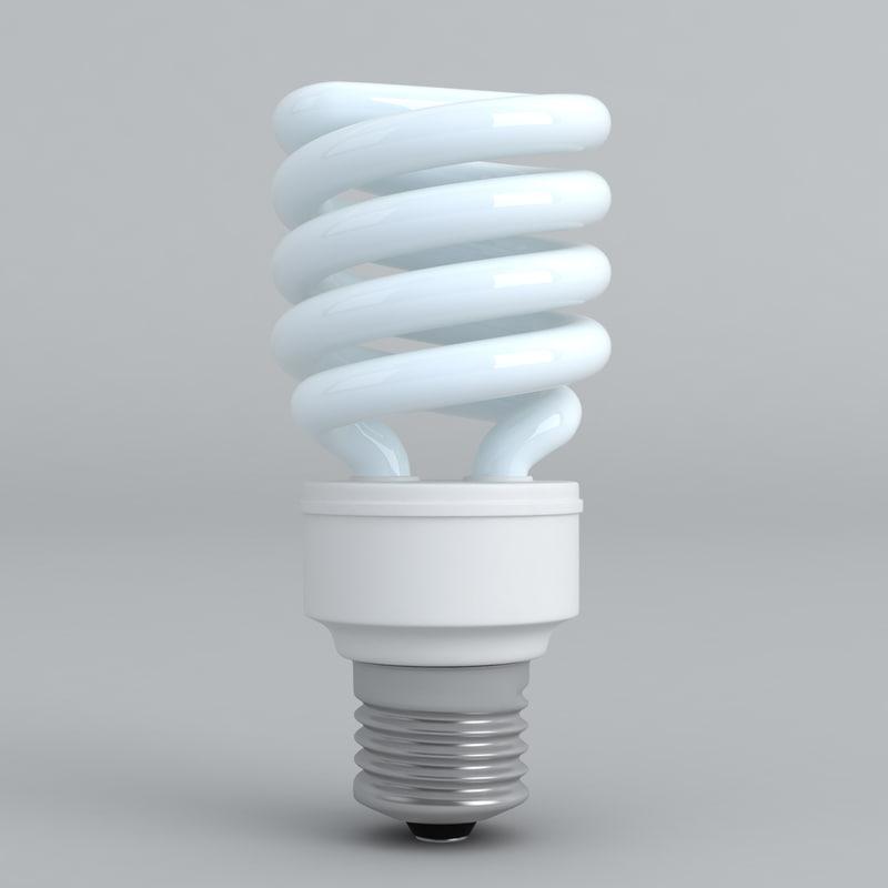 cfl energy efficient light bulb 3d fbx