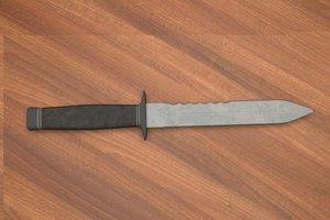 3d combat knife model