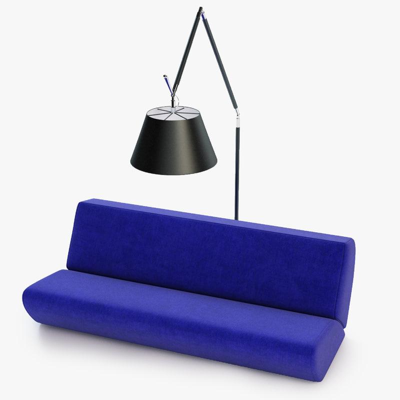 3d communication sofa lamp