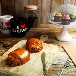 3d max chocolate croissant