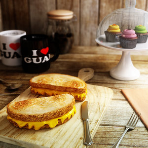 3d old-fashioned grilled cheese