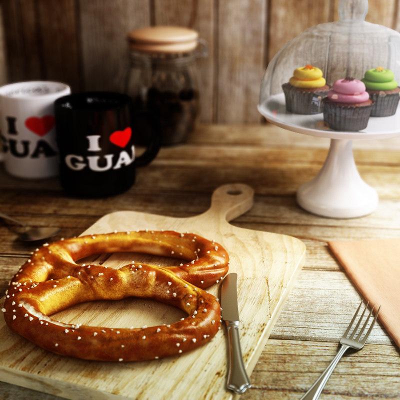 3ds max pretzel