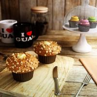 3dsmax pumpkin cream cheese muffin