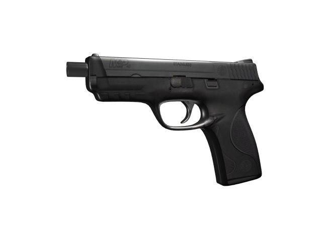 free pistol 3d model