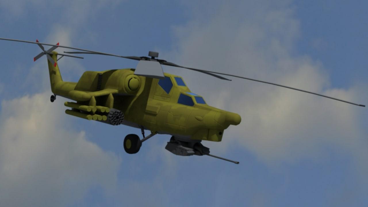 mi mi-24 helicopter 3d model