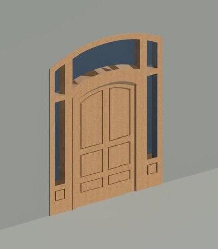 door arched 3d model