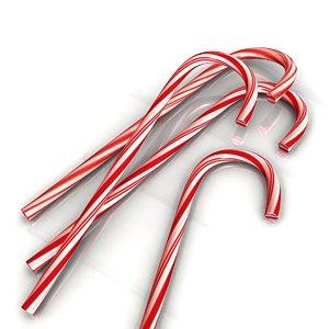 candy cane 3d ma