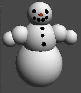 x snowman 3d model