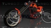 3d custom chopper model
