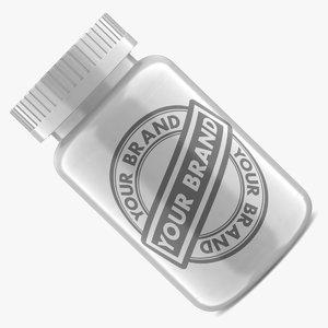 pill bottle white 3d obj