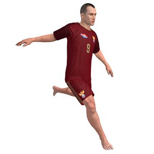 beach soccer player rigged 3d model