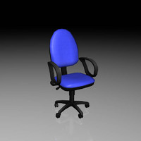 chair office 04 low poly