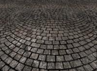 Tiled cobblestone paving