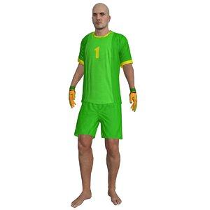 beach soccer rigged 3d model