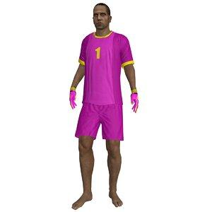 3d model beach soccer rigged