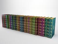 classic book 7 3d model