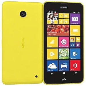 nokia lumia 638 yellow 3d lwo