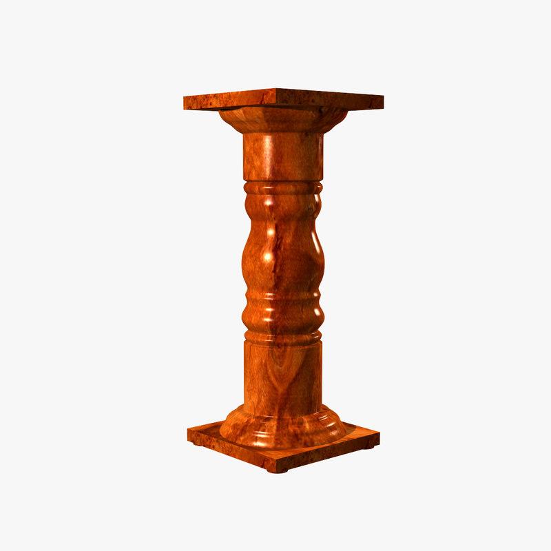 pedestal classic polished 3d model