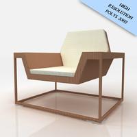 3dsmax dedon chair lounge xs