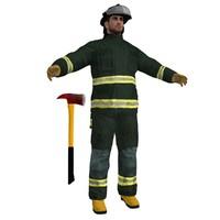 3d fireman ready