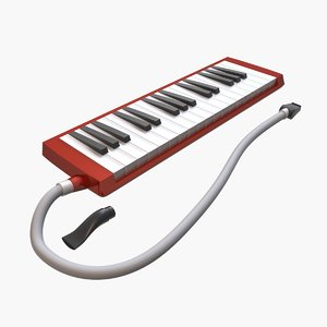 3d model melodica keyboard
